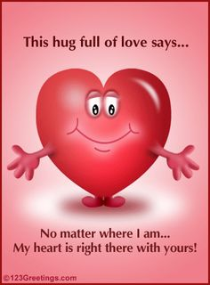 Cute Hug | Send across your message with this cute ecard.