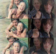 Daryl comforting Carol after Sofia's death, and Carol comforting Daryl after Beth's death :'(