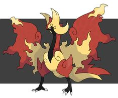 Fakemon Bird_Flame by fer-gon.deviantart.com on @DeviantArt