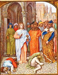 Johannes apostel.. Omdat Johannes in geheel Klein-Azië het evangelie verkondigde, werd hij door de afgodendienaars naar de tempel van Diana gesleept. Ze wilden hem dwingen aan deze godin te offeren. Daarop bood de heilige hun een keuzevoorstel aan: als zij in staat waren, door Diana aan te roepen, de kerk van Christus te doen instorten, dan was hij bereid aan Diana te offeren; maar als hij daarentegen door het aanroepen van Christus in staat zou blijken Diana's tempel te doen instorten, dan…