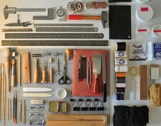 "Bookbinding tools - This entire blog/virtual museum ""Things Organized Neatly""  is AMAZING!!!"