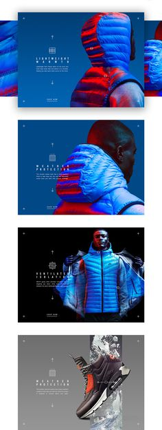 Nike Tech Pack In-Store App: Simple Interaction & Strong Imagery Ecommerce Website Design, Homepage Design, Design Blog, Website Design Inspiration, Layout Design, Design Tech, Nike Design, App Design, Brand Inspiration