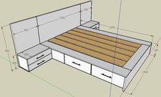 Insanely Clever Furniture Including Storage Solutions to Organize Every Room - Decor Units Bedroom Closet Design, Bedroom Furniture Design, Bed Furniture, Pallet Furniture, Furniture Ideas, Master Bedroom, Bed Frame Design, Diy Bed Frame, Diy Bett