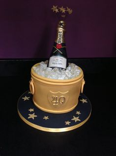Champagne bucket cake, 40th birthday cake