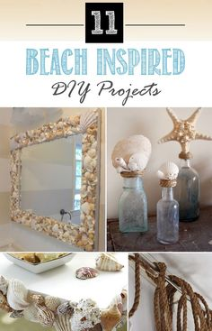 11 Beach Inspired DIY Projects for the Home #BeachThemed