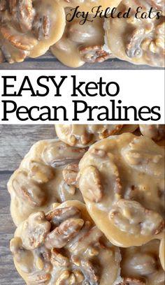 Easy Candy Recipes, Sugar Free Recipes, Low Carb Recipes, Easy Keto Recipes, Keto Desert Recipes, Sugar Free Baking, Pecan Recipes, Meatloaf Recipes, Cooking Recipes