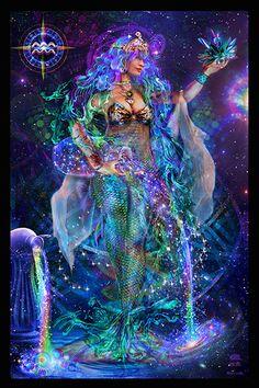 Aquarius Tapisserie - Jumbie Art