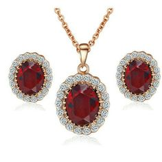Yoursfs Kate Middleton Diana Style Ruby With Austrian Crystal Stud Earring and Necklace Sets Yoursfs http://www.amazon.com/dp/B00KJ7T2IU/ref=cm_sw_r_pi_dp_Yxyjub0HC23Z4