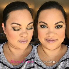 I'm LOVING the flawless finish that the About Face Collection gives me. This picture has NO FILTER! Pretty awesome, right?! The Behold Setting Powder gave me a matte finish and my makeup didn't move all day. That stuff acts as a filter on it's own!