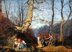 Ferdinand Georg Waldmüller (Austrian 1793-1865), Early Spring in Vienna forest, 1864 (4752x3485) unfocused