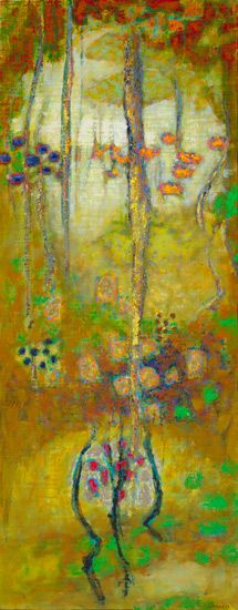 Rick Stevens, Enchanted Sequences, 48 x 19 - Oil on Canvas