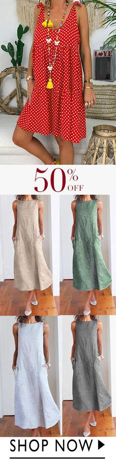 Summer Casual Plus Size Chic Sleeveless Dresses Sommer Casual Plus Size Chic ärmellose Kleider Plus Size Chic, Plus Size Bra, Casual Summer Dresses, Summer Outfits, Cute Outfits, Dress Summer, Elegantes Outfit Mit Jeans, Mode Plus, Mode Chic