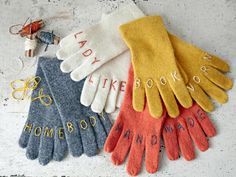 Witty gloves. Fall Crafts - Easy Fall Craft Ideas - Country Living.