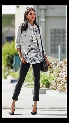 Stitch Fix Stylist: Like the blouse worn under the jacket - nice long length Use this link to sign up for Stitch Fix https://www.stitchfix.com/referral/8263833