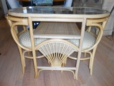 Vintage Rattan & Wicker Honeymoon Set