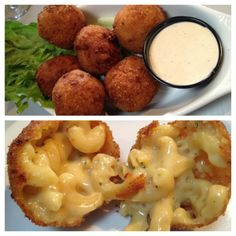 Panko Fried Mac & Cheese Balls yummy for a mac and cheese lover Food For Thought, Think Food, I Love Food, Good Food, Yummy Food, Yummy Recipes, Cheese Bites, Cheese Ball, Fried Mac And Cheese