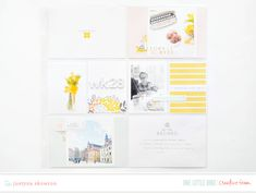 (I'm sooooo ready for the weekend, this week has been crazy!) I'm thrilled to be sharing this collection of projects from the creative team using the latest addition to … Project Life Album, Project Life Layouts, Bird Design, Travelers Notebook, Journal Cards, Bird Feathers, Daffodils, Happy Friday, Photo Book