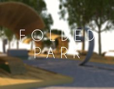 "Check out new work on my @Behance portfolio: ""Folded Park"" http://be.net/gallery/63892865/Folded-Park"