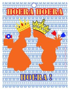 Queen and King Free Printable Tags, Free Printables, Birthday Party Themes, Netherlands, Holland, Dutch, Cool Pictures, The Past, King