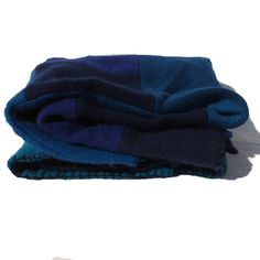 """Baby blanket in Cashmere in blues """"Wowser"""" throw / blanket 85cm x 85cm perfect Christmas present by StudioScott on Etsy"""