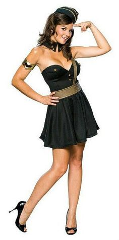 Bombin' Betty Sexy Army Pin Up Girl Adult Fancy Dress Halloween Costume Army Costume, Military Costumes, Military Dresses, Costume Dress, Military Uniforms, Cute Couples Costumes, Sexy Costumes For Women, Sexy Halloween Costumes, Adult Costumes