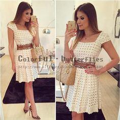 2015 New Vestidos Women Dress Fashion Casual Summer Style Holes Short Sleeve Vestido de festa Women Party Dresses