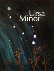 ursa minor little dipper constellation postcard