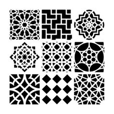 moroccan tiles reusable stencils