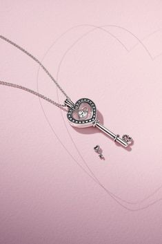 DO Celebrate love and open your heart with our new Valentines Day collection now available in stores and online. This new sparkling floating locket in sterling silver is only one of our many key styles. - May 04 2019 at Pandora Necklace, Tiffany Necklace, Pandora Bracelets, Pandora Jewelry, Charm Jewelry, Pandora Charms, Jewelry Art, Gold Jewelry, Jewelry Bracelets