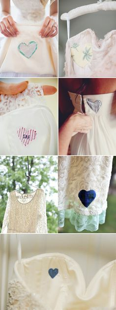 38 Creative Ways to Honor Your Parents at Your Wedding - Carry a Heart from Daddy's Shirt