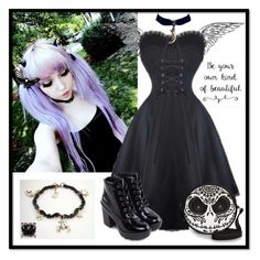 """""""Angel of Darkness"""" by sunako-nakahara ❤ liked on Polyvore featuring ALDO"""