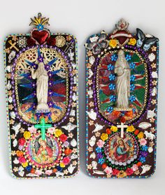 Folk art Rainbow / Jesus statue Altered vintage by TheVirginRose -- yep, totally makes me happy
