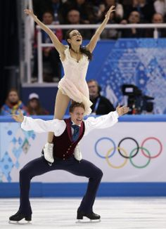 DAY 11:  Madison Chock and Evan Bates of the United States during Figure Skating Ice Dance Free http://sports.yahoo.com/olympics