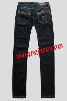 Vendre Jeans Louis Vuitton Homme H0010 Pas Cher En Ligne.