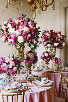 This is it! No more changing ideas. Roses and peonies. Fuschia and gold wedding