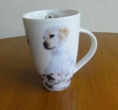 Leonardo Fine China Coffee Mug Cup Dog Cute Golden Labrador Puppy Puppies