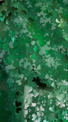Shamrock Clover Mesh Foil Tulle Fabric Green, Fabric by the Yard by LaCreekBlue on Etsy