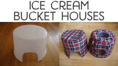 ♥ Small Pets DIY ♥ Ice cream bucket houses