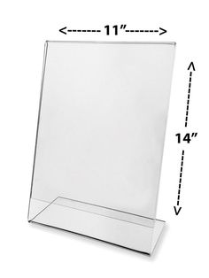 """Clear Double Sided Acrylic Magnetic Photo Frames Frame Size 6/"""" x 8/"""" to Hold Photo 5/"""" x 7/"""" Free Standing Picture Frames for Elegant Desktop Display 4, 6 X 8 Set of 4 Frames"""