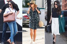 5 Insanely Cute Summer Outfit Ideas Inspired by Meghan Markle, Reese Witherspoon.- 5 Insanely Cute Summer Outfit Ideas Inspired by Meghan Markle, Re. Summer Picture Outfits, Summer Outfits Women 20s, Summer Fashion For Teens, Cute Winter Outfits, Summer Fashion Outfits, Casual Summer Outfits, Trendy Outfits, Outfit Summer, Summer Shoes