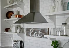 Summer Showcase of Homes Recap - The Lilypad Cottage Blue Subway Tile, Lakefront Homes, Minimal Home, Blue Home Decor, Cottage Kitchens, Cottage Interiors, Kitchen Decor, Kitchen Ideas, Open Shelving