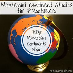 Give this a read Montessori Continent Studies for Preschoolers — DIY Montessori Continent Globe http://momtessorilife.com/2017/06/13/montessori-continent-studies-for-preschoolers-diy-montessori-continent-globe/?utm_campaign=crowdfire&utm_content=crowdfire&utm_medium=social&utm_source=pinterest