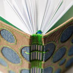 handbound book with coptic binding
