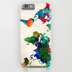 world map iPhone Case by bekimart Iphone Decal, Iphone Cases, Iphone Skins, All You Need Is, Vinyl Decals, Bubbles, Map, World, Super Easy