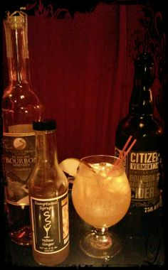 Whiskey'd Apple Cocktail 1 1/2 oz.  Smugglers' Notch Distillery Straight Bourbon 1/3 oz. Sumptuous Yellow Ginger Syrup 4 oz. Citizen Cider  Combine Bourbon and Yellow Ginger Syrup with Ice in Large Old Fashion Glass with Ice.  Stir.  Top with Citizen Cider.  Apple Slice Garnish.   A #VermontCocktail Original from your friendly barkeep at Sumptuous Syrups of Vermont.   Have you tried Vermont's Other Syrup? @Don Tequila Horrigan