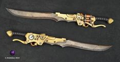 Wondering what is Steampunk? Visit our website for more information on the latest with photos and videos on Steampunk clothes, art, technology and more. Arma Steampunk, Steampunk Sword, Steampunk Kunst, Steampunk Belt, Steampunk Cosplay, Steampunk Fashion, Steampunk Mechanic, Larp, Cold Steel