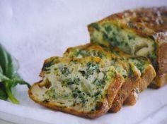 receta budín / pan de espinaca y queso