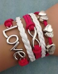 Hearts, Infinity, Love - Pink and White - ModWrap - www.gomodestly.com