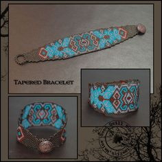Freebie Bracelet Pattern-Art Deco (gives me idea of embroidering a Celtic pattern on a piece of felt, then sewing it onto a leather backing for a bracelet.  Must remember)