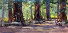 Donald Neff - Pathway in the Giants, 8x16, oil on board, $450